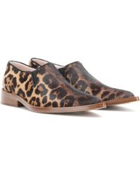Victoria Beckham - Printed Calf Hair Loafers - Lyst