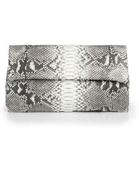 Hunting Season Python Fold-Over Clutch - Lyst