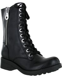 Mia Fredrica Mid Shaft Lace Up Boots - Lyst