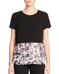 Bailey 44 Floral-Print Layered Top - Lyst