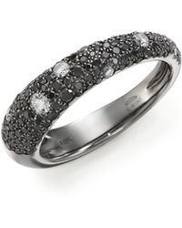 Kwiat Cobblestone Black/White Diamond & 18K White Gold Band Ring gold - Lyst