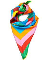 Valentino 1973 Rainbow Silk Scarf multicolor - Lyst