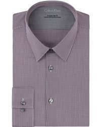 Calvin Klein Extreme Slim Fit Micro Check Dress Shirt - Lyst