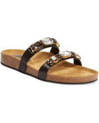 Callisto Follye Jeweled Footbed Sandals - Lyst