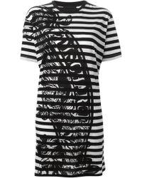 Diesel Black Gold 'Amal' Striped Print Dress - Lyst