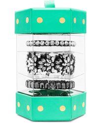 BaubleBar 'Shades Of Gray' Stretch Bracelet Gift Set - Clear/ Hematite (Set Of 3) - Lyst