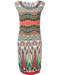 Blumarine Abstract Print Dress - Lyst