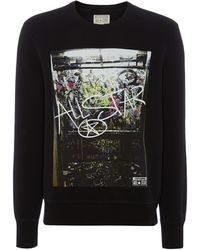 Converse Grafitti Print Sweatshirt - Lyst