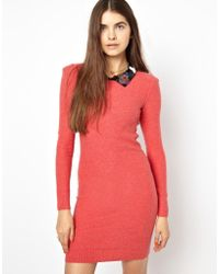 Sonia By Sonia Rykiel Dress in Cashmere Mix with Embellished Collar - Lyst
