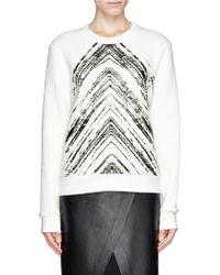 Sandro Twisted Brush Print Sweatshirt - Lyst