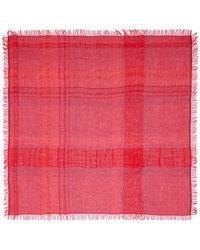 Armani Plaid Cotton-Linen Scarf - Lyst