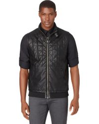 Calvin Klein Quilted Faux Leather Vest - Lyst