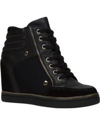 Aldo Ciambave Wedge Lace Up Trainers - Lyst