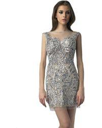 Basix Black Label Sequin Flip Dress - Lyst