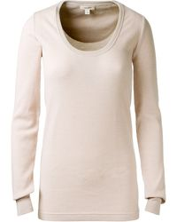 Marc Jacobs Old Pink and Beige Wool Top with Fine Stripes - Lyst