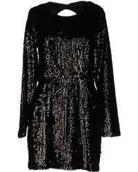 Rachel Zoe Black Short Dress - Lyst