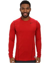 Nike Hyperwarm Lite Fitted L/S Crew - Lyst