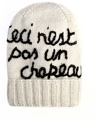 Eugenia Kim Magritte This Is Not A Hat Graphic Knit Hat - Lyst