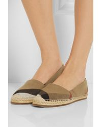 Burberry Checked Canvas Espadrilles - Lyst