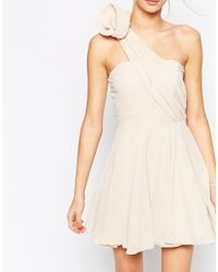 TFNC Prom One Shoulder Dress With Corsage Detail - Lyst