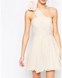 TFNC Debutante One Shoulder Dress With Corsage Detail - Lyst