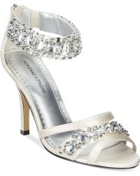 Adrienne Vittadini Gabrielle Two-Piece Evening Sandals silver - Lyst