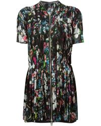 McQ by Alexander McQueen Pleated Floral Print Dress - Lyst