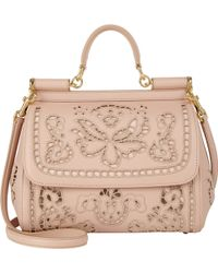 Dolce & Gabbana Cutwork-embroidered Miss Sicily Bag - Lyst
