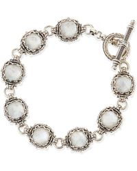 Konstantino Small Aura Silver  Mother-of-pearl Cushion Bracelet - Lyst