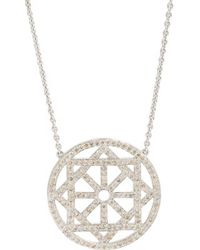 Pamela Love Champagne Diamond  White Gold Arch Necklace - Lyst