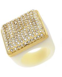 Vince Camuto - Pave Square Cocktail Ring - Lyst