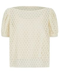 See By Chloé Puff Sleeve Lace Top - Lyst