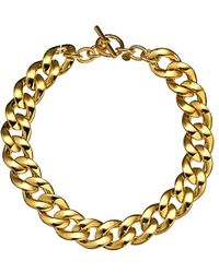Michael Kors Collection Curb Chain Toggle Necklace - Lyst