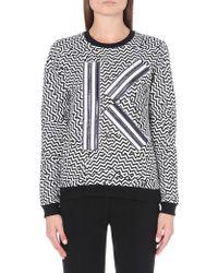 Kenzo Broken Floor K Cottonjersey Sweatshirt White - Lyst