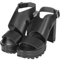 Topshop Womens Lolita Chunky Platform Sandals  Black - Lyst