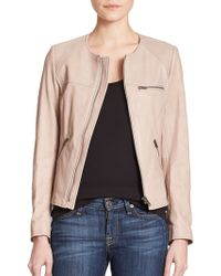 June Leather Moto Jacket - Lyst