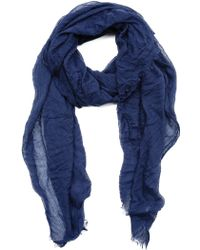 Spun Scarves Solid Scarf - Lyst