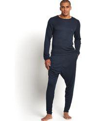 Emporio Armani Mens Soft Fine Rib Long Sleeve Top - Lyst