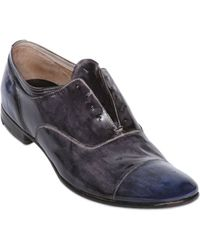 Premiata Hand-Polished Leather Laceless Shoes - Lyst