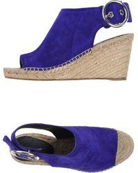 Celine Purple Espadrilles - Lyst