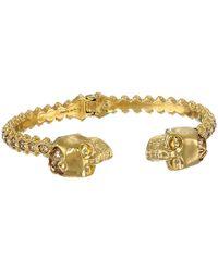 Alexander McQueen Gold Skull Bracelet - Lyst