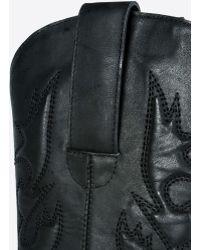 MM6 by Maison Martin Margiela Platform Western Boot - Black