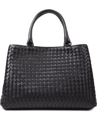 Bottega Veneta Milano Medium Intrecciato Leather Tote - Lyst
