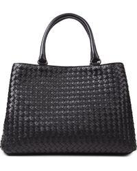 Bottega Veneta Milano Intrecciato Leather Tote - For Women - Lyst