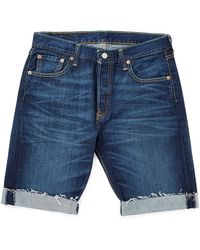 Levi's Levis Made and Crafted Mens Mid Rise Shuttle Denim Shorts - Lyst