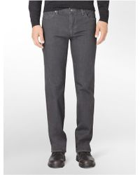 Calvin Klein Straight Leg 5-Pocket Grey Jeans - Lyst