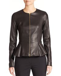 The Row Anasta Leather Peplum Jacket - Lyst