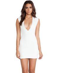 AQ/AQ Sparta Mini Dress in White - Lyst