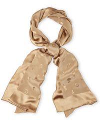 Dior Solid Silk Scarf brown - Lyst