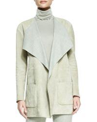 Ralph Lauren Collection Helene Suede Drapeneck Jacket - Lyst